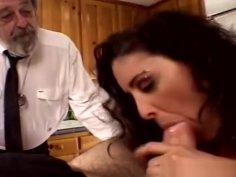 Sweet Tits Swinger Threesome For Brunette Swinger Wife