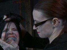 Fat submissive slut Sybil Hawthorne gets her face slapped