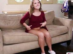 Brunette Step Sis Brooke Bliss Seduced into Banging