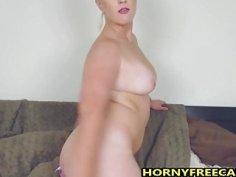Busty Blonde Cougar Enjoys Fingering