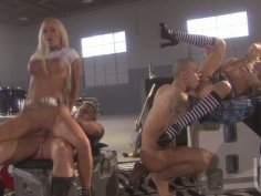 Rock band orgy with kinky sluts Kirsten Price and Lichelle Marie