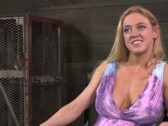Curvaceous blond slut Darling gets tied with rope in hot BDSM video