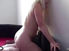 My Young blonde bbw gilfriend sits on my face