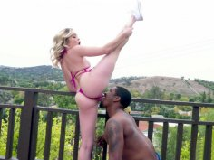 Flexible Katie Kush gets her pussy licked by Isiah Maxwell